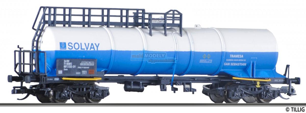 Cisternový vůz na kyselinu SLOVAY, RENFE